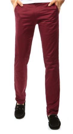 męskie chinosy z Dstreet - czerwone spodnie