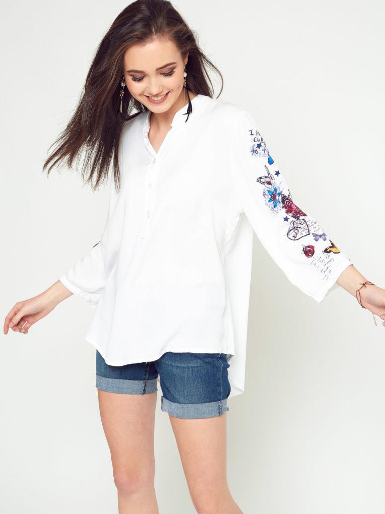 luźna biała koszula damska