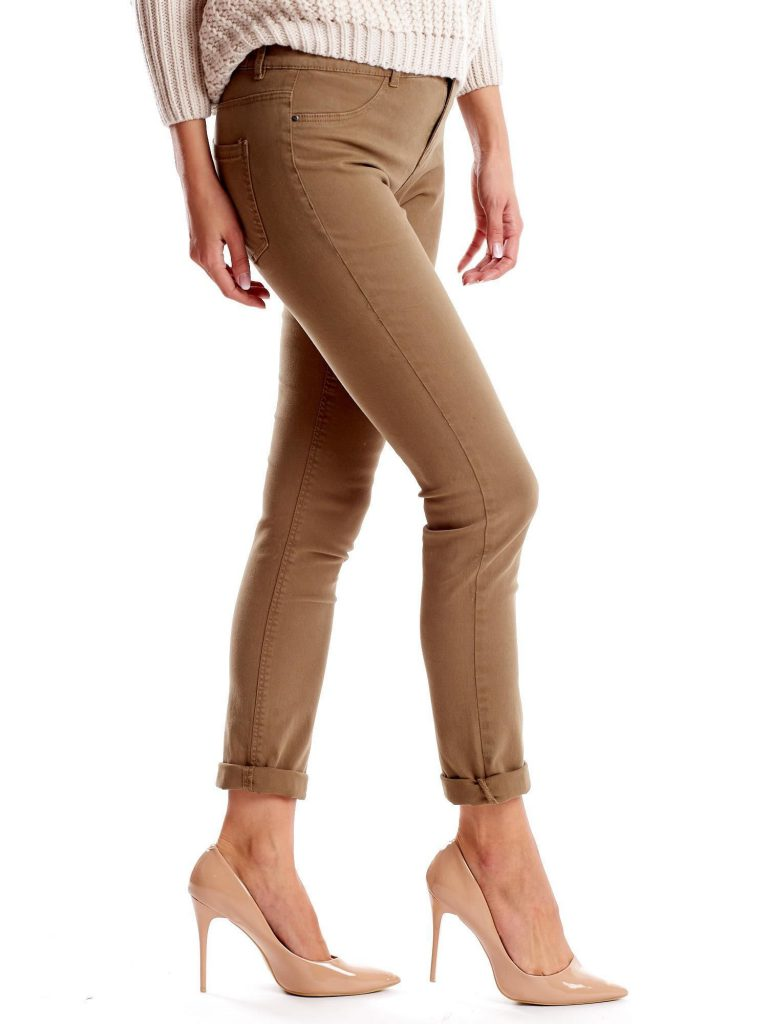 modne damskie spodnie z materiału