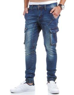 bojówki męskie jeansowe